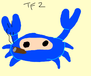 TF2 with a crab (is that in the game now?)