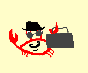 Happy spy crab
