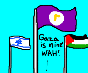 flag of the rightful owner of gaza