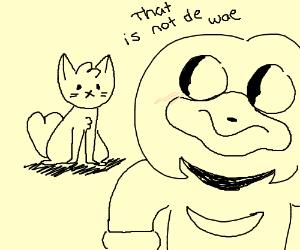 Knuckles teaches cat da wae.