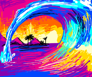 Cute wave