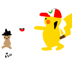 Pokemon except the roles are reversed