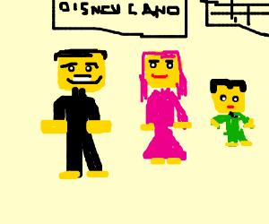 Legfamily in disneyland