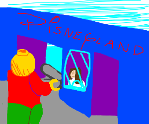 Legos visit disneyland