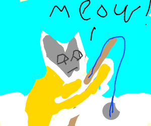 siamese cat ice fishing