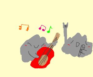 a literal rock band