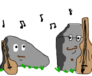 two boulders in a folk band