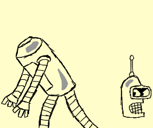 Bender's Body looking for his Head