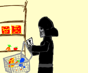 Darth Vader goes grocery shopping