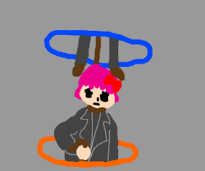 Sayori playing Portal