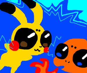 Pikachu vs charmander