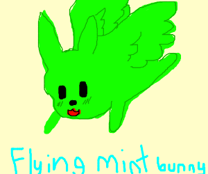 flying hero bunny