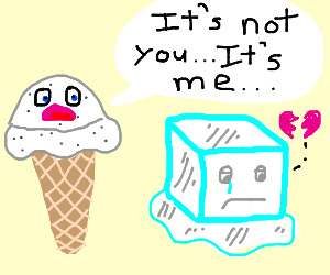 icecube gets rejected by icecreamcone (vanilla
