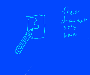 Free draw, but only use blue