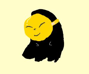 black ghost witha gold mask (pokemon)