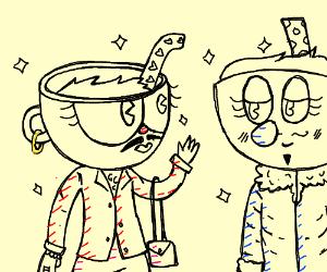 Two gay mugheads