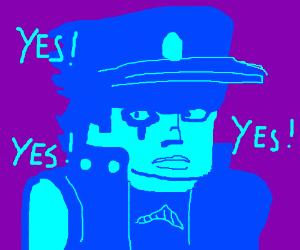 "jotaro ""YES YES YES YES YES"" scene"