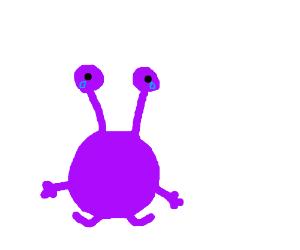 Purple Eyed creature crying