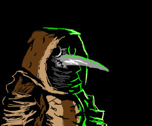 Hooded Robe Plague Doctor