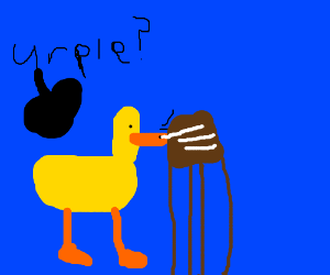 urple duck sniffs