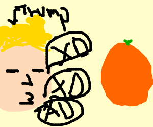donald trump is saying XD alot as an orange