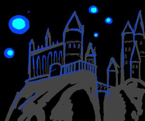 Hogwarts by night