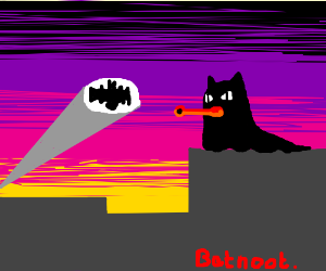Batnoot overlooks Gotham City
