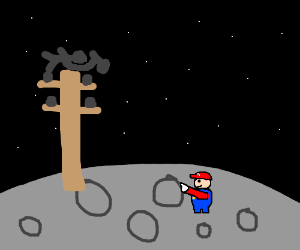 mario trying to get a power moon