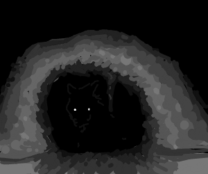 there is a monster in the cave and it waits...