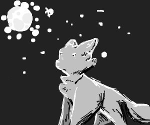 Ominous Cat with shiny eyes