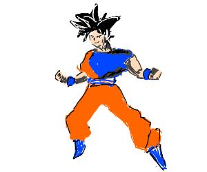 Dragon Ball Z character (probably Goku but idk