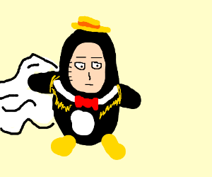 Tennessee Tuxedo as One Punch Man