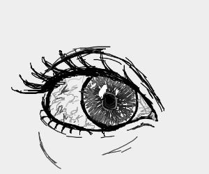 stoned eye drawing by memeptune drawception