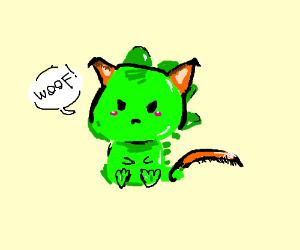 Kawaii dinosaur thinks its a doggo