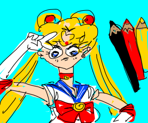 Badly drawn sailor moon