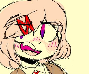 snarky blushing natsuki