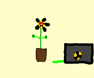 A mutated flower