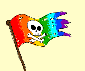 Colourful pirate sign
