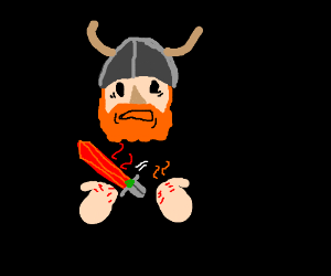 Viking with a Very Hot Sword