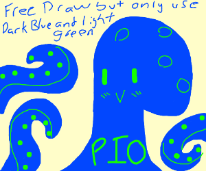 Free draw but only use light green & dark blue