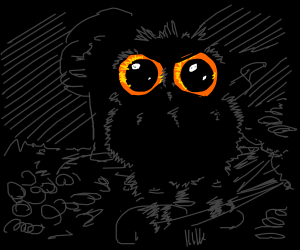 An owl in the darkest of landscapes