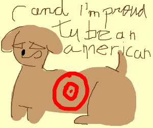 Target Dog But Americanized