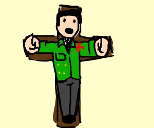 Hitler on a cross