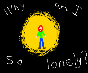 a man who is lonley