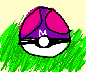 A Master ball in the grass