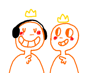 a happy lovely orange men
