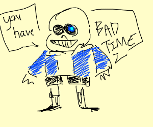 garbage undertale drawing