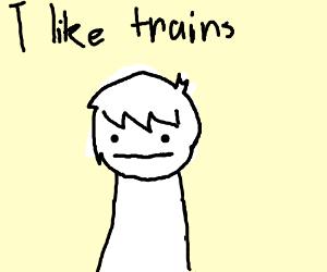 Boy still likes trains even if he got ran over