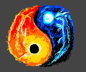 Yin Yang Sun Moon Dragons Drawing By Monokuro Drawception