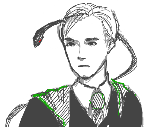 Draco Malfoy From Harry Potter Drawing By Elderflower Drawception